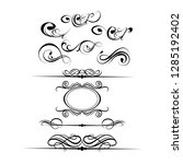 decorative monograms and... | Shutterstock .eps vector #1285192402