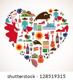spain love | Shutterstock .eps vector #128519315