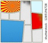 comics book background in... | Shutterstock . vector #1285196728