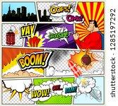 comics template.  retro comic... | Shutterstock . vector #1285197292