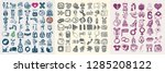 134 hand drawing doodle icon... | Shutterstock .eps vector #1285208122