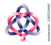 triquetra celtic knot with... | Shutterstock .eps vector #1285210465
