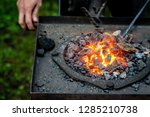 hot item is inserted into the... | Shutterstock . vector #1285210738