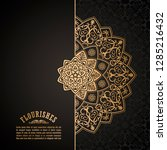 vintage luxury decorative... | Shutterstock .eps vector #1285216432