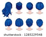 beautiful hairstyle of woman... | Shutterstock .eps vector #1285229548