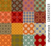 patchwork seamless pattern... | Shutterstock .eps vector #1285235215