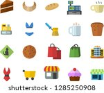 color flat icon set cake flat... | Shutterstock .eps vector #1285250908