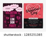 set of valentine's day... | Shutterstock .eps vector #1285251385