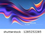 modern colorful flow poster.... | Shutterstock .eps vector #1285252285