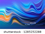 modern colorful flow poster.... | Shutterstock .eps vector #1285252288