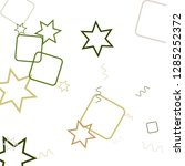 geometric memphis background.... | Shutterstock .eps vector #1285252372