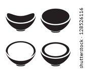 bowl icon  restaurant sign | Shutterstock .eps vector #128526116