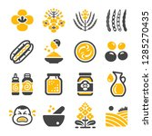 mustard icon set vector and... | Shutterstock .eps vector #1285270435