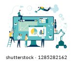 vector illustration. creative... | Shutterstock .eps vector #1285282162