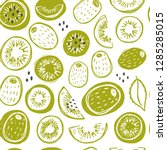 seamless pattern with... | Shutterstock .eps vector #1285285015