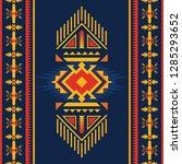 ethnic seamless pattern. native ... | Shutterstock .eps vector #1285293652