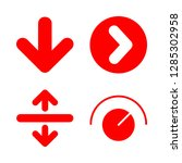 down icons set with up and down ...   Shutterstock .eps vector #1285302958