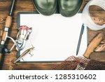 fishing gear   fishing  fishing ... | Shutterstock . vector #1285310602