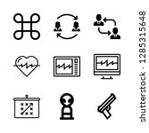 attack icons set with... | Shutterstock .eps vector #1285315648