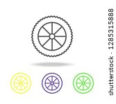 motorcycle wheel colored icons. ... | Shutterstock .eps vector #1285315888