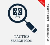 tactics search icon. editable... | Shutterstock .eps vector #1285323562