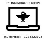 totem search icon. editable... | Shutterstock .eps vector #1285323925