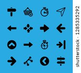 16 pointer icons with design... | Shutterstock .eps vector #1285335292