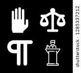 punishment icons set with libra ... | Shutterstock .eps vector #1285337212