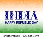 republic day of india... | Shutterstock .eps vector #1285350295