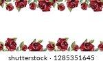 horizontal seamless border.... | Shutterstock .eps vector #1285351645