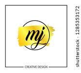 initial mj letter logo template ...   Shutterstock .eps vector #1285353172