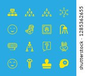 16 head icons with screw and... | Shutterstock .eps vector #1285362655
