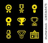 9 prize icons with trophy and... | Shutterstock .eps vector #1285365475