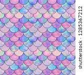 mermaid fish scale wave... | Shutterstock . vector #1285367212