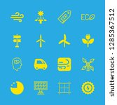 16 renewable icons with grid... | Shutterstock .eps vector #1285367512