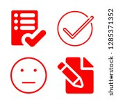 4 survey icons with pencil and... | Shutterstock .eps vector #1285371352