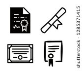 bachelor icons set with college ... | Shutterstock .eps vector #1285371415
