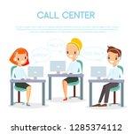 vector illustration of call... | Shutterstock .eps vector #1285374112