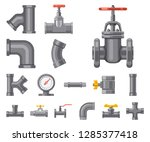 vector design of pipe and tube...   Shutterstock .eps vector #1285377418
