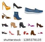vector illustration of footwear ... | Shutterstock .eps vector #1285378135