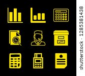 9 accounting icons with... | Shutterstock .eps vector #1285381438