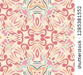 abstract ethnic pattern in...   Shutterstock . vector #1285381552