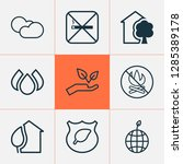 eco friendly icons set with eco ...   Shutterstock .eps vector #1285389178