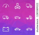 auto icons line style set with... | Shutterstock .eps vector #1285389322
