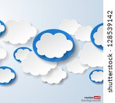 abstract speech bubbles in the... | Shutterstock .eps vector #128539142