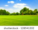 Perfect Green Grass On A Golf...