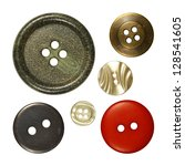 sewing buttons  vintage   Shutterstock . vector #128541605