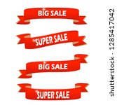 set of red sale banners... | Shutterstock .eps vector #1285417042