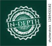 in depth chalk emblem written... | Shutterstock .eps vector #1285433182