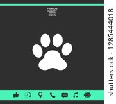 paw icon symbol. graphic...   Shutterstock .eps vector #1285444018